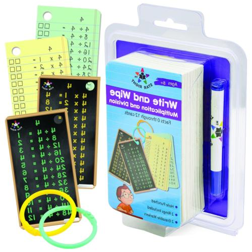 multiplication and division flash cards write