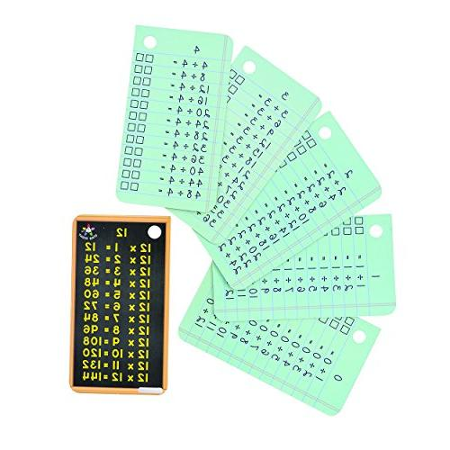 Star Right Division Flash Cards, Write and Flash Included, 2 for 6 up
