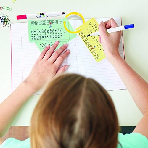 Star Right Multiplication Division Write and Wipe Flash Facts 0-12, Hole Punched, for Ages 6 & up