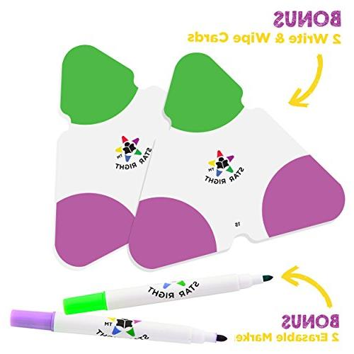 Star Math Triangle Flash and Division 2 Write Cards Markers, & Up