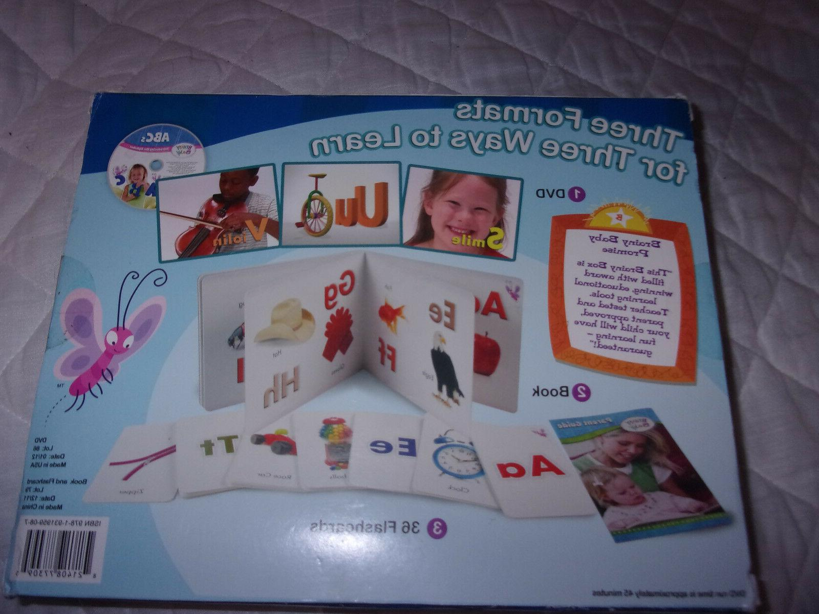 Brainy Baby Brainy DVD Book Flashcards 1-4 Educational