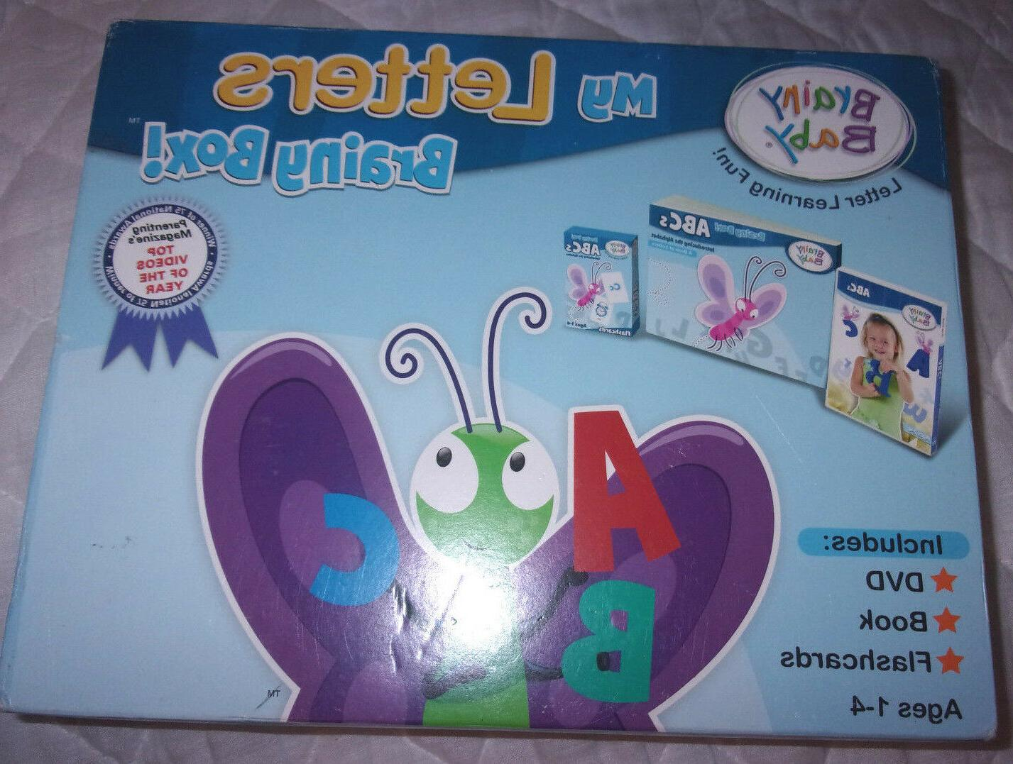 my letters brainy box dvd book flashcards