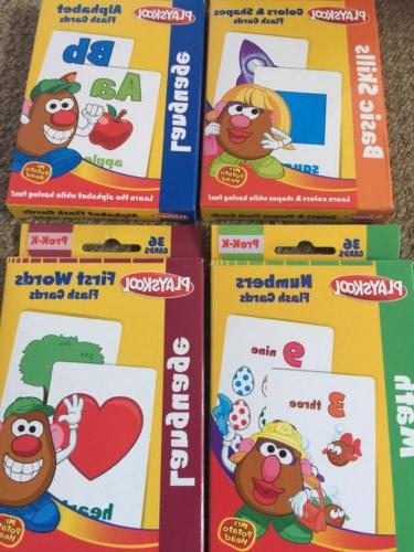 new 4 packs playskool flash cards alphabet