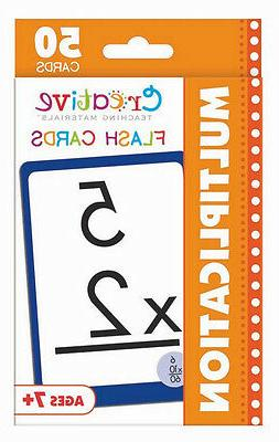 NEW 50 Multiplication Flash Cards 2nd 3rd 4th Grade Teaching