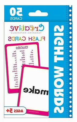 NEW 50 Sight Words Flash Cards Kindergarten 1st Grade Teachi