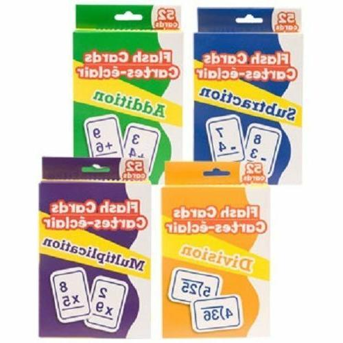 new math flash cards addition subtraction division