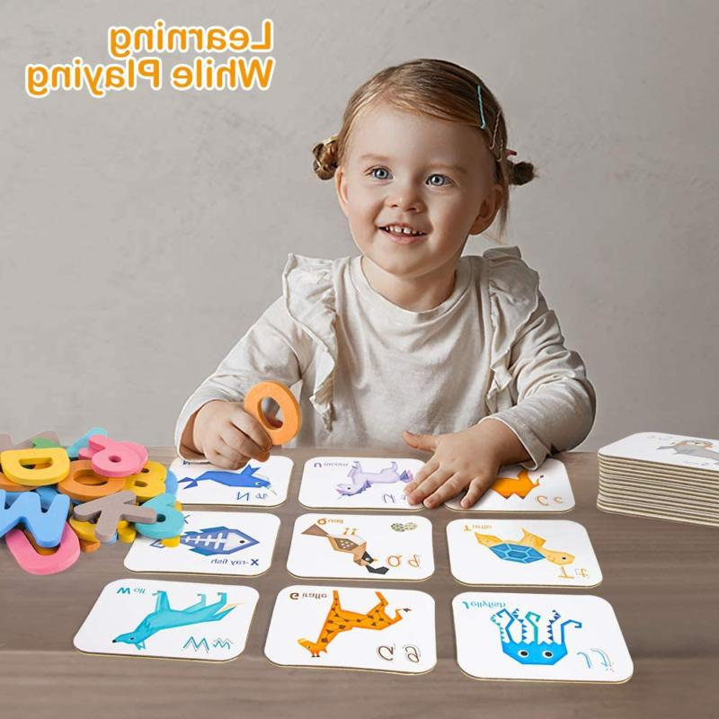 Vatos Number Flash Cards For Toddlers 2 3 4 Old Wooden