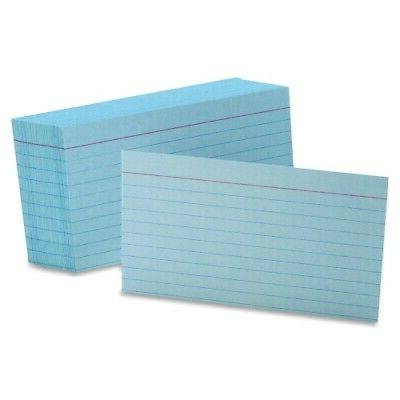 Oxford 7321BLU -Colored Ruled Index Cards, 3 x 5, Blue, 100/