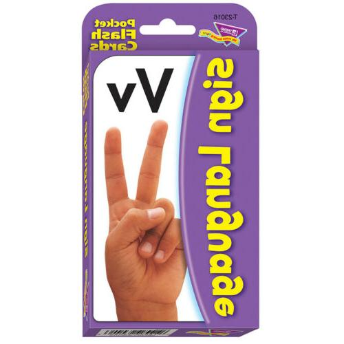 Pocket Flash Cards Sign Language