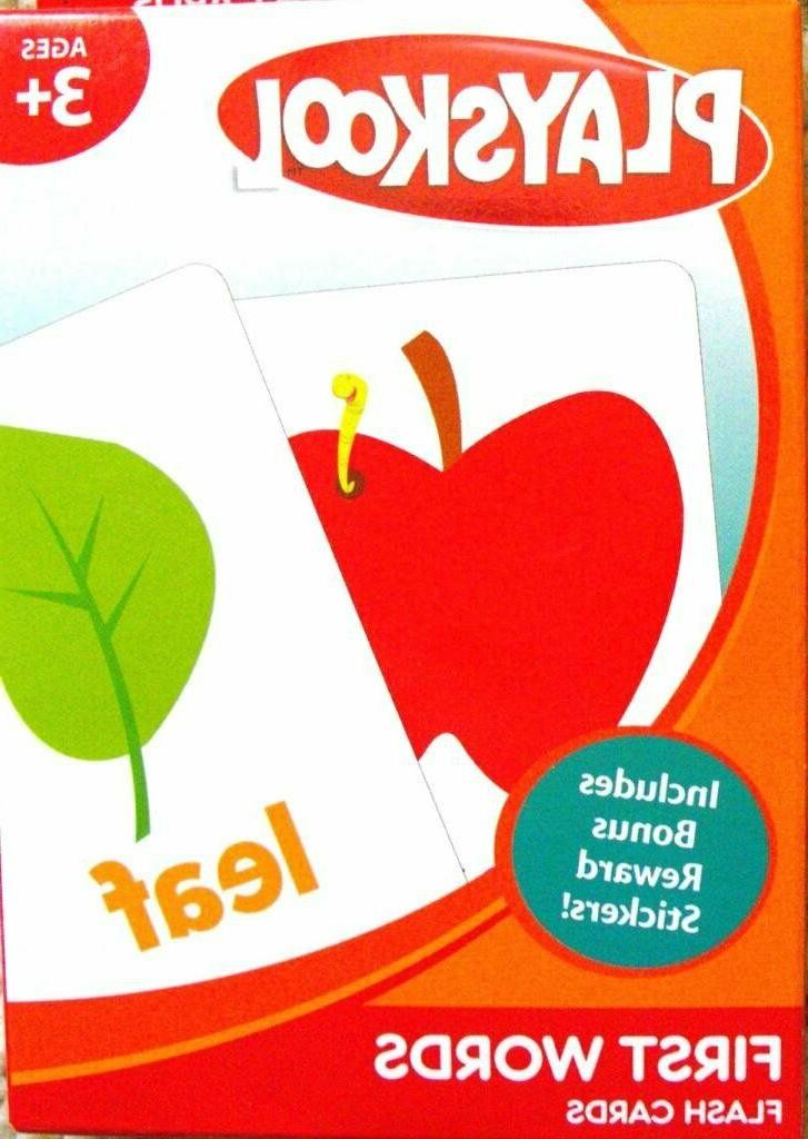 pre k first words flash cards box