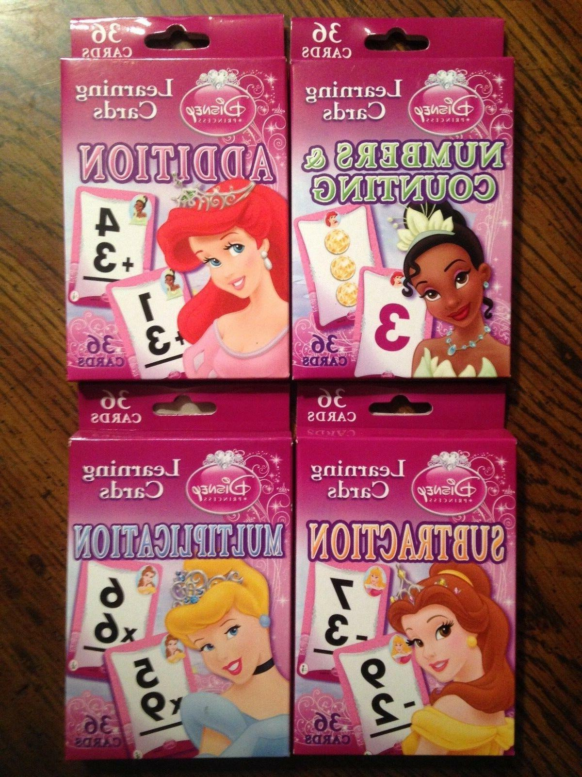 Disney Princess Flash Cards Numbers Counting Addition Subtra