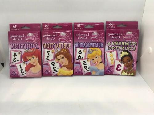 princess learning flash cards 4 packs multiply