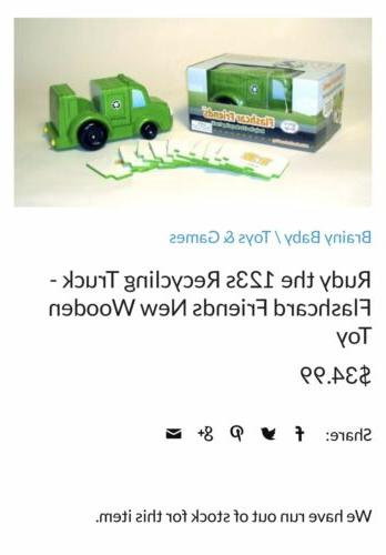 Rudy the Recycling Truck Flashcard Wooden