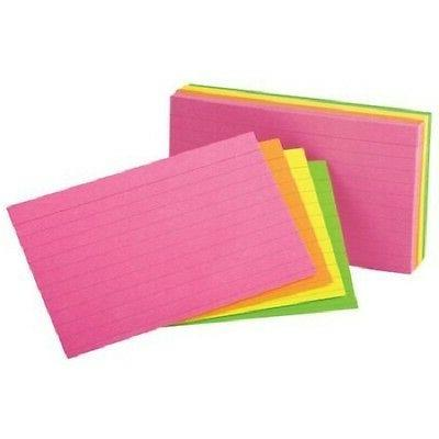 ruled index cards 3 x 5 glow
