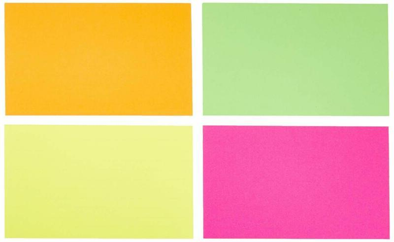 Ruled Flash Cards, Assorted Colored, 3x5 Inch, 300-Count