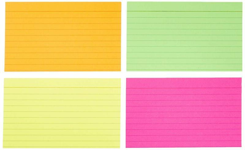 Ruled Index Flash Assorted Neon Inch, 300-Count