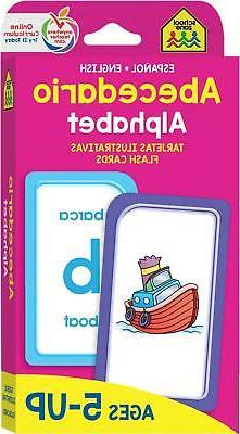School Zone - Bilingual Alphabet Flash Cards - Ages 5 and Up