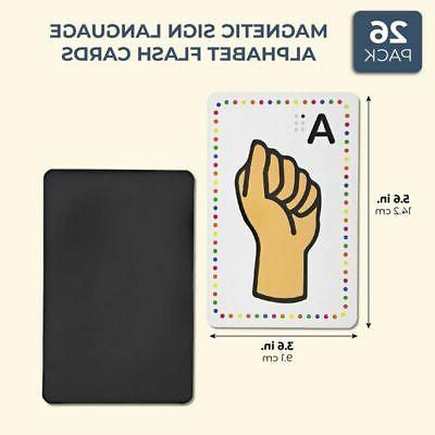 Set 26 Magnetic Sign Cards x 3.6 in