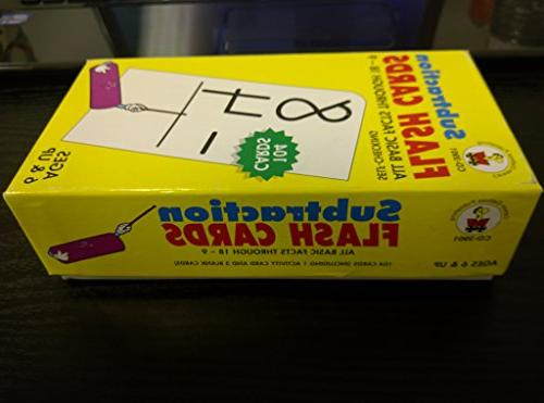subtraction facts flash cards w