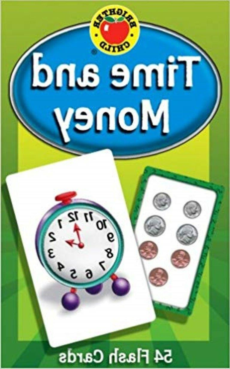 time and money flash cards kids toddler