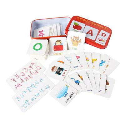 Alphabet Cognition Flash Cards Upper Case and Lower Case Wit