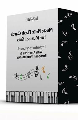 Lark and Wolf Music Note Flash cards for Kids 56 Flashcards