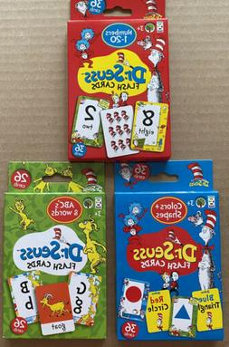 Dr Seuss Learning Flash Cards…Numbers, Letters and Colors