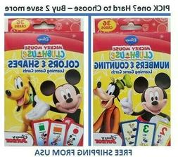 Learning Toys Cards Disney Mickey Mouse Shapes Number Colors