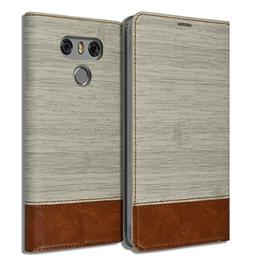 LG G6   Diary Book Leather ID Credit Card Wallet Standing So