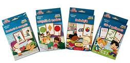 Little People Flash Cards Early Learning 4 Piece Set - Inclu