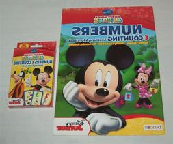 Lot 2 Disney Mickey Mouse Clubhouse Flash Cards Workbook Num