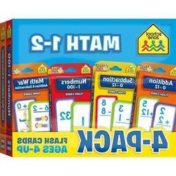 School Zone Math 1-2 -Flash Card 4 Pack Flash Card