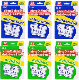 Greenbrier Math Flash Cards 3-Pack Addition & 3-Pack Subtrac