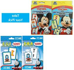 Flash Cards For Kids Toddlers Disney Numbers & Counting Colo
