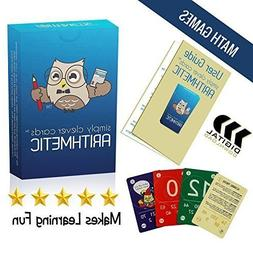 Math Flash Playing Cards Arithmetic with User Guide
