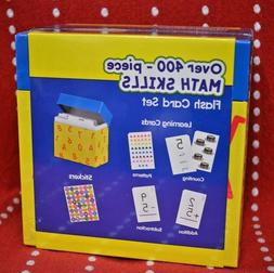 Math SKILLS Flash CARD Set 400 PC Learning CARDS Stickers Ad