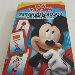 mickey mouse colors and shapes flash cards