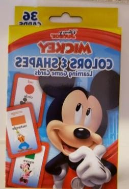 Mickey Mouse Flash Cards Preschool Kids Colors Shapes Skills