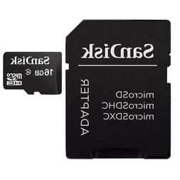 "SanDisk microSDHC 16GB with SD Adapter 3""x5"""