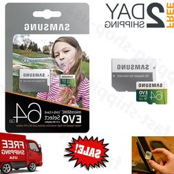 Samsung 64GB 100MB/s  MicroSDXC EVO Select Memory Card with
