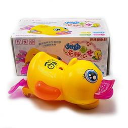 Movable Flash Duck Cute Electronic Learn Walking Kids Toy wi