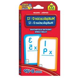 multiplication 0 12 flash cards bilingual