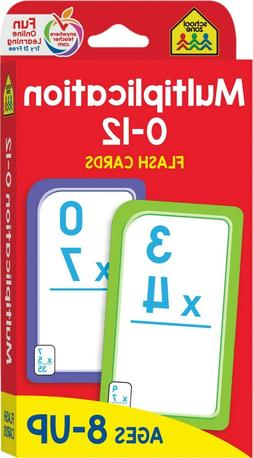 Multiplication 0-12 Flash Cards, Ages 8 Up, Grades 3 5, Math