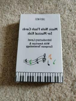 Music Flash Cards For Piano Kids USA & UK Terminology Brand