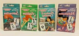 New 4 Packs of Disney Princess Flash Learning Cards Each Pac