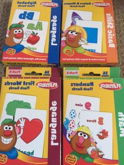 NEW 4 packs Playskool Flash Cards: Alphabet; first words; co