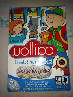 New CAILLOU Ready For School AGES 2-6 Windows + Mac DISCS an