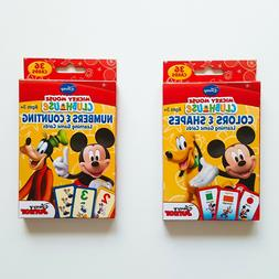 NEW Disney Mickey Mouse Flash Cards / 2 packs