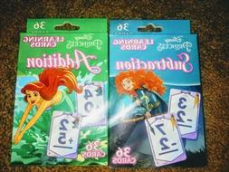 new princess addition and subtraction flash cards