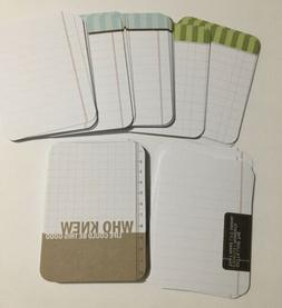 New Retro Blank Note Paper, Flash Cards, Vocabulary Word Car